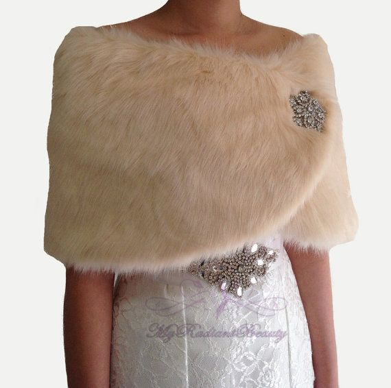 Hey, I found this really awesome Etsy listing at https://www.etsy.com/listing/204703996/bridal-faux-fur-wrap-bridal-shawl