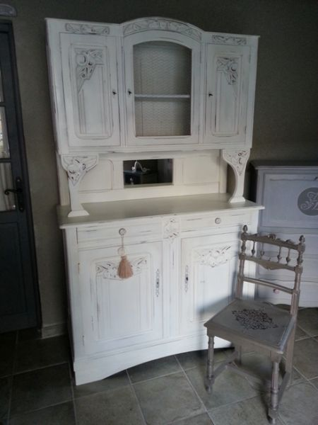 Buffet ancien relooke eleonore deco meubles pinterest for Meuble a relooker