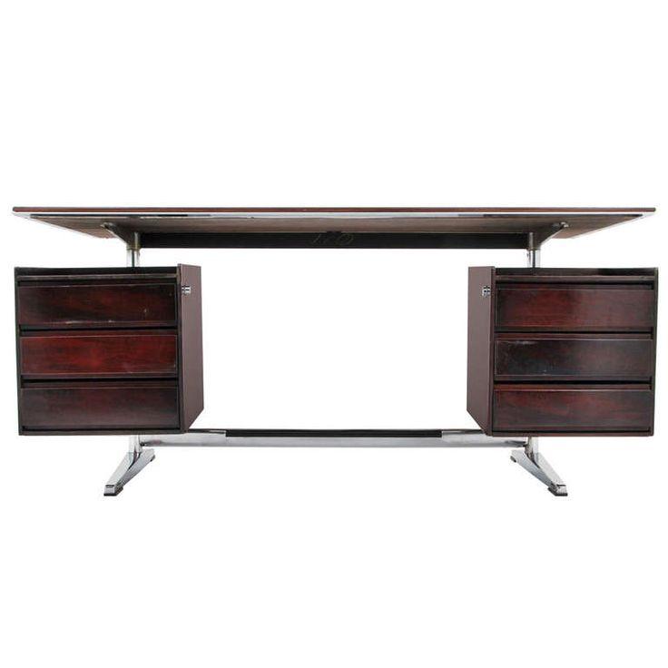 Designer & Manufacturer: Gio Ponti; Rima, Italy; rosewood and chromed steel, ca.1960