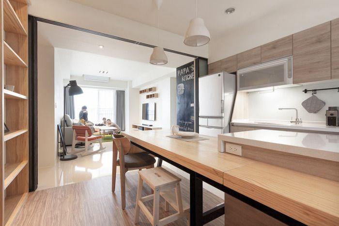 밝고 환한 30평 아파트 인테리어 :: FabD(팹디)  부엌 인테리어 ...