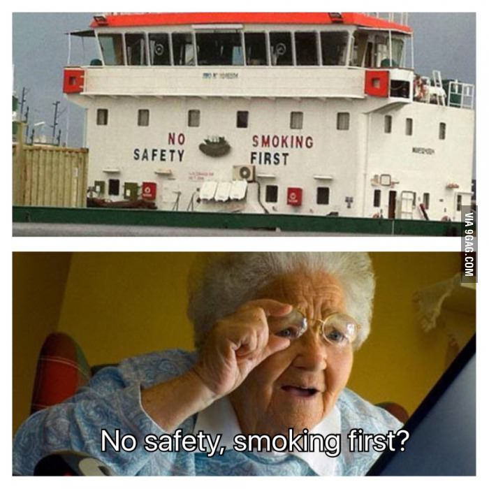 Who needs health and safety? - 9GAG