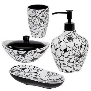 Best Elegancia Para El Baño Images On Pinterest Bathroom - Floral bathroom accessories set for bathroom decor ideas