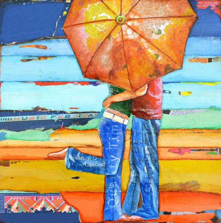 DONDE TODO COMENZÓ  Los principios del romance y las relaciones son una raza increíble de emociones. La emoción, la anticipación y la felicidad absoluta comienza aquí.  ** No inflar los costos de envío-se han ajustado los precios de las impresiones para compensar diferencias de envío (desde Etsy sólo permite un precio).  Se trata de una impresión de arte de la reproducción de una original técnica mixta pieza realizada en un lienzo de madera.  Esta impresión es cuadrada así que se sienta…