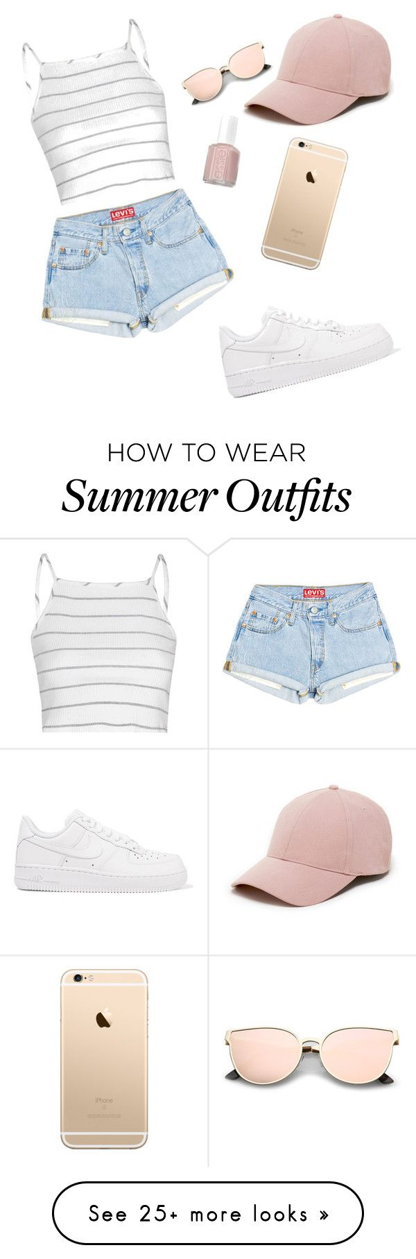 """Simple summer outfit!"" by hannahalund on Polyvore featuring Glamorous, NIKE, Sole Society and Essie"