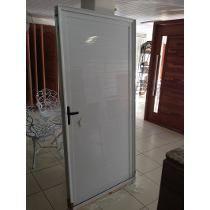 Porta Em Lambril Aluminio Branco 90 X 210