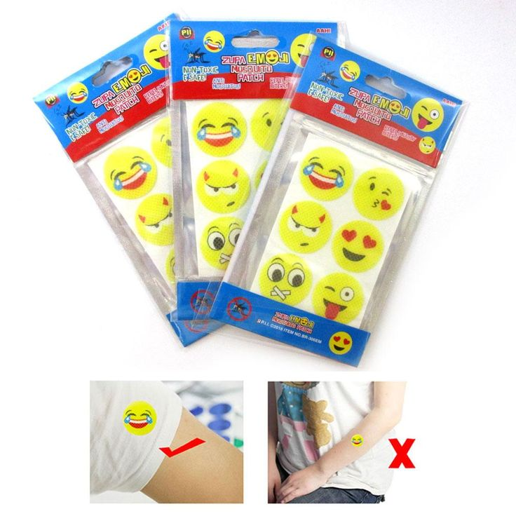 18 Pc Emoji Mosquito Patch Baby Repellent Sticker Protect Kids Natural Non Toxic