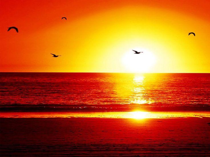 pôr-do-sol | Pôr do sol romântico - 1024x768