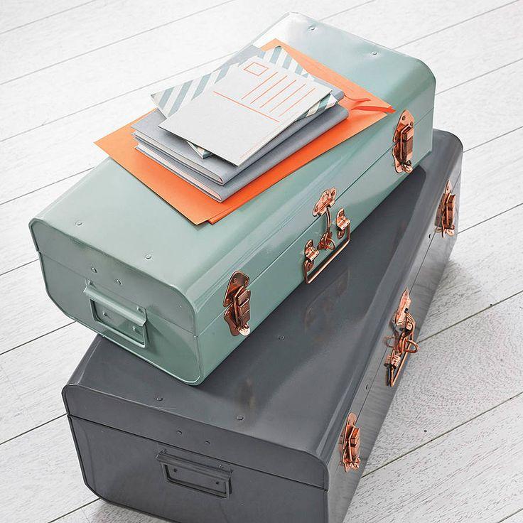 metal storage trunk by idyll home | notonthehighstreet.com