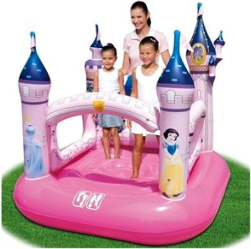 Inflatable Bouncy Play Center Pink Princes Castle Outdoor Air Blower Slide Kids  #WiltonBradley