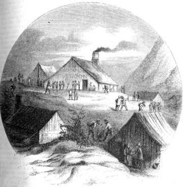 Comstock Lode Miners and prospectors organized the camp of Gold Hill