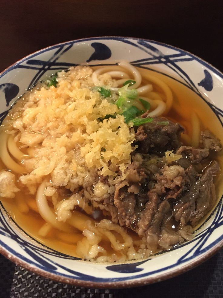 Marugame udon with clear beef broth is super yummy!