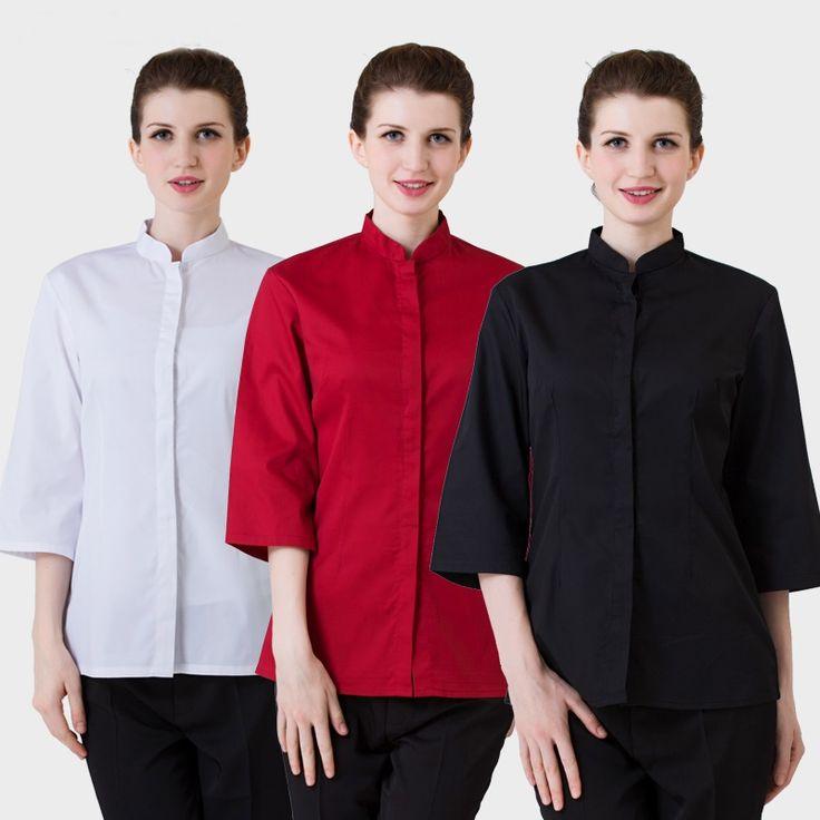 Food service restaurant waitress uniforms women men restaurant uniforms restaurant uniform shirt uniforms for waiters   AA999