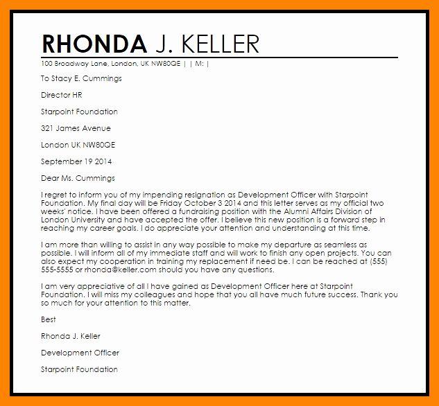 Involuntary Resignation Letter Sample