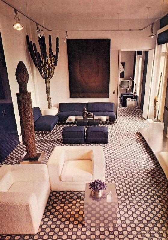 A soothing design and color scheme. | 16 Chic 1970s Interiors You Would Want To Live In