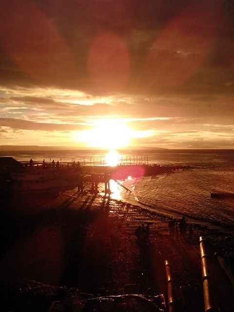 Sunset at the central city of Kupang, NTT, Indonesia