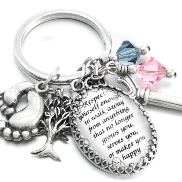 Personalized Quote Key Chain