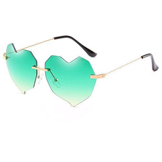 dccbca49917 CVOO Heart Sunglasses Women Cat Eye Sun Glasses Female Famous Brand Designer  Love Heart Shaped Style