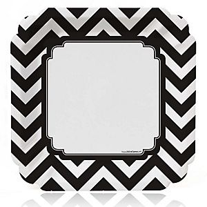 Chevron Black and White - Everyday Party Theme | BigDotOfHappiness.com