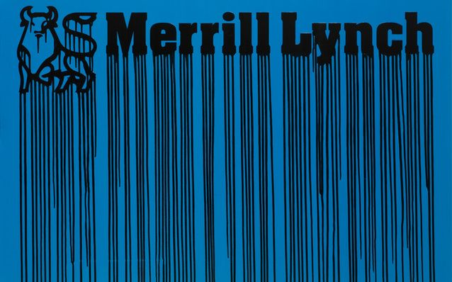 Zevs | LIQUIDATED MERRIL LYNCH, Blue  (2010) | Available for Sale | Artsy