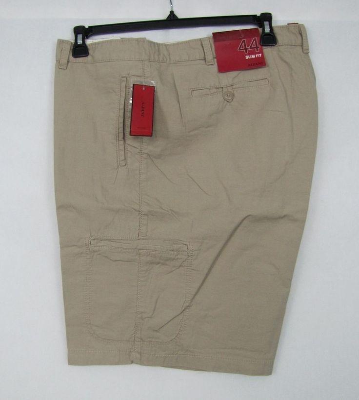 Alfani RED Shorts Men's Slim Fit Flat Front 6 Pockets Shorts Size 44 NEW #Alfani #CasualShorts 14.99