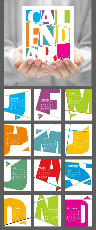 Colorful CD calendar Modern desk calendar by JAnoveltyDeSign