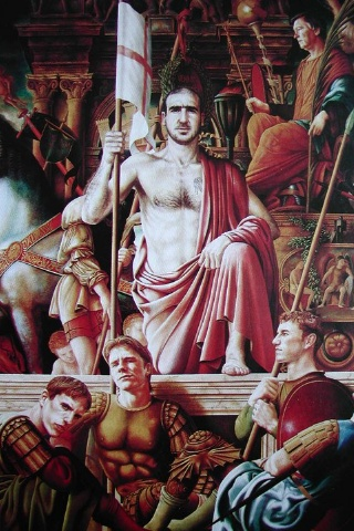 Eric Cantona painting from mid 1990's.