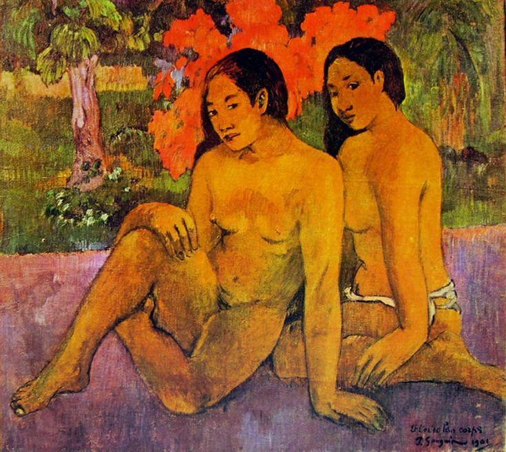 Due donne tahitiane sedute (... E l'oro dei loro corpi), olio su tela, Musée d'Orsay, Parigi