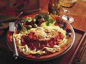 Anthony's Chicken Cacciatore Using bottled pasta sauce and shredded cheeses makes this classic Italian dish quick and easy -- and so good!