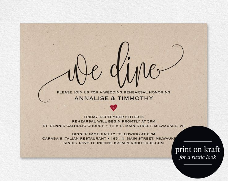 2612 best Rehearsal Dinner Invitations images on Pinterest Texts - dinner invitations templates