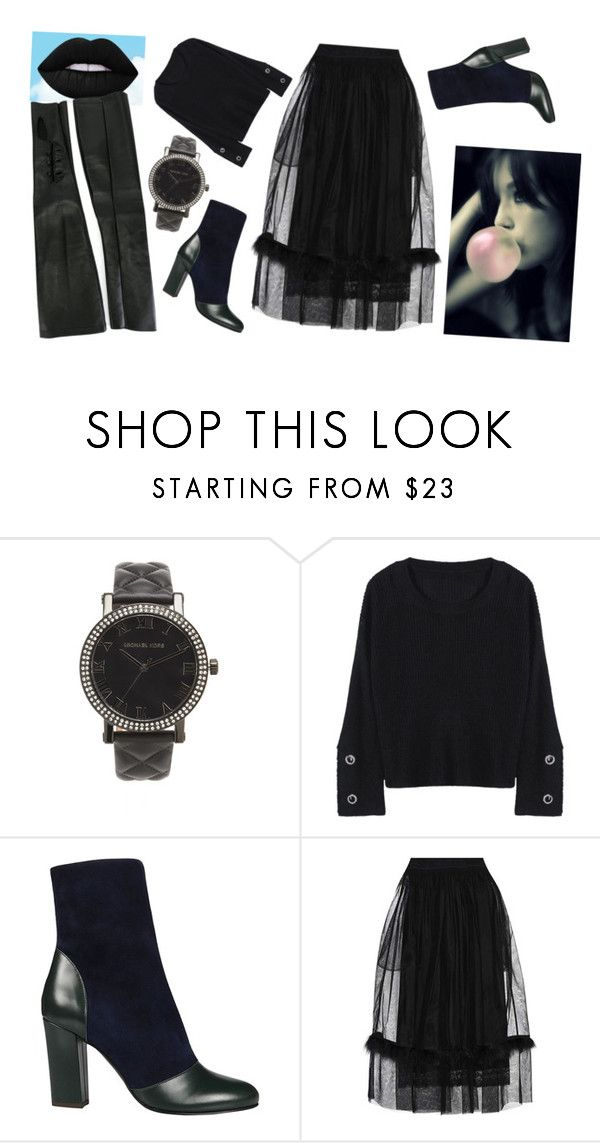 """Pink Pop & Candy Clouds"" by rhymingscapes on Polyvore featuring Michael Kors, Michel Vivien, Simone Rocha, Maison Margiela, monochrome and allblack"