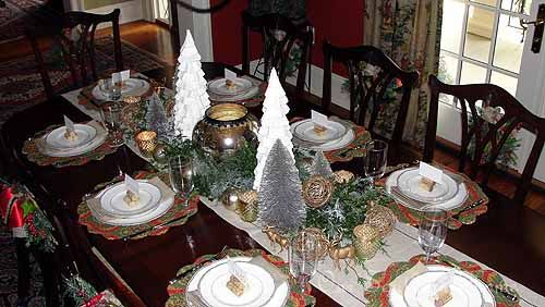winter tablescapeDining Room, Southern Home