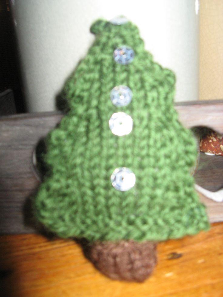 kerstboom gebreid