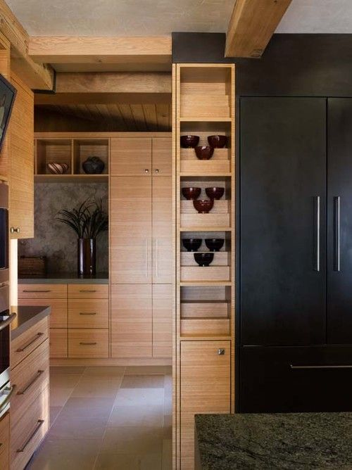Asian kitchen dramatic contrast cabinetry