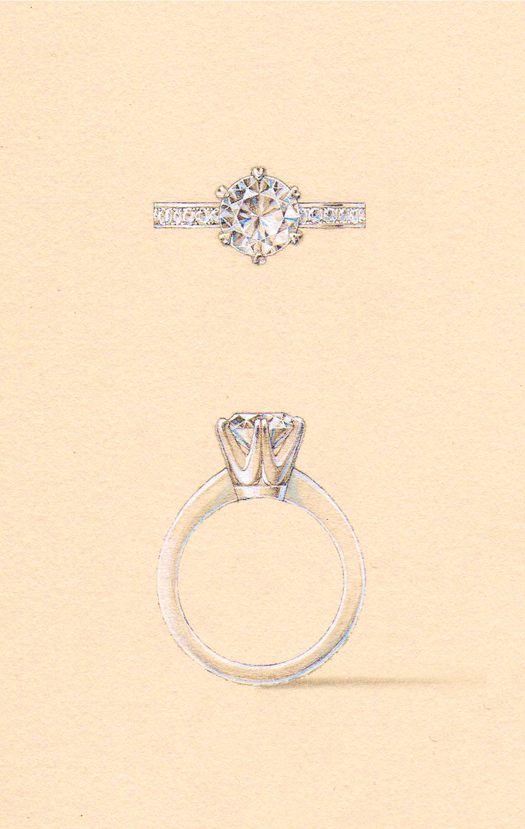 The Sloane Setting, with a bead set diamond band. Naveya & Sloane engagement ring, made to order in Auckland, New Zealand.
