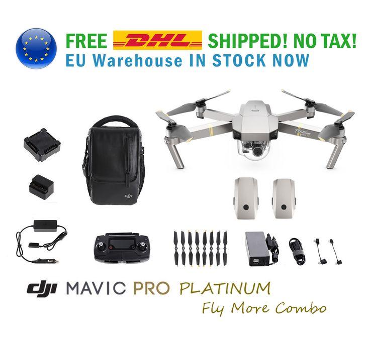 DJI Mavic Pro Platinum Fly More Combo 4K Camera Drone (UK FREE DHL!)