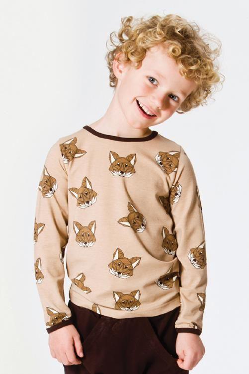 Smafolk l/s tee - Fox - Sand Retro Baby Clothes - Baby Boy clothes - Danish Baby Clothes - Smafolk - Toddler clothing - Baby Clothing - Baby clothes Online