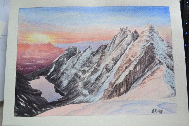 """An Tealach, Scotland"".  Acuarela/wate rcolour 29.7x21 cm."