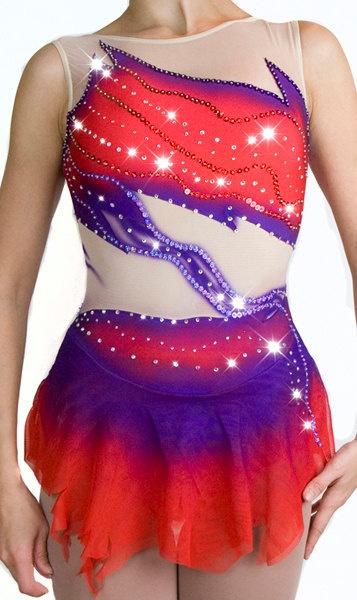 Custom Figure Skating Dress. $179.99, via Etsy.