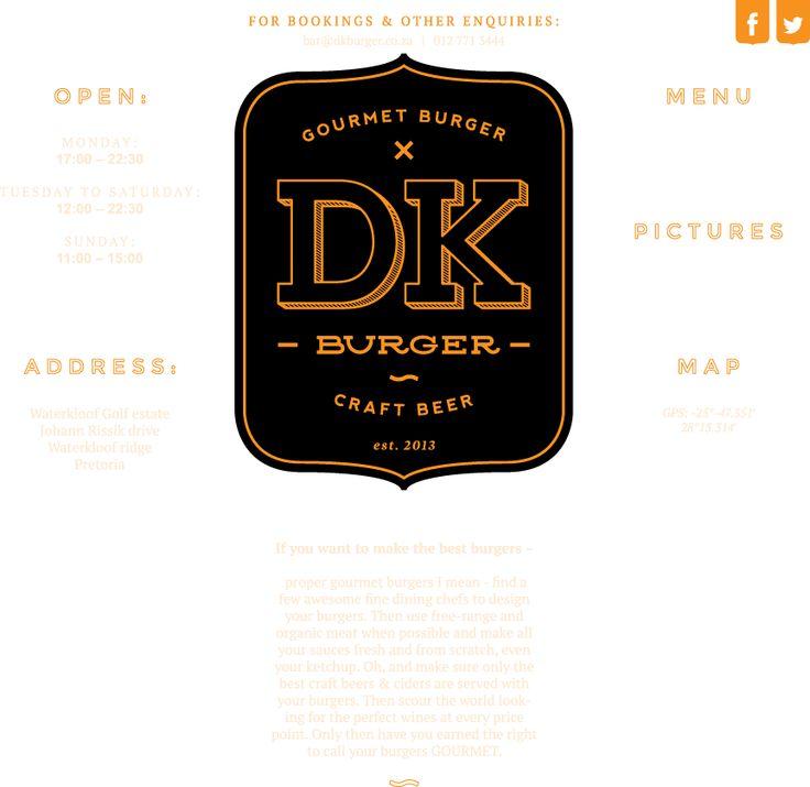 DK Burger   Gourmet Burger bar. Craft Beer. Waterkloof Golf Estate