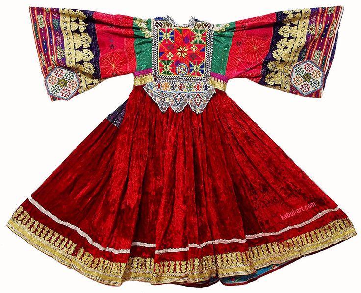 Vintage afghanistan ethnic  traditional dress costume Nomaden afghan kleid LND
