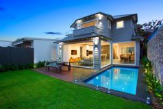 Sumptuous in-ground plunge pool, timber deck, level lawns, executive-level living, Pilcher Residential