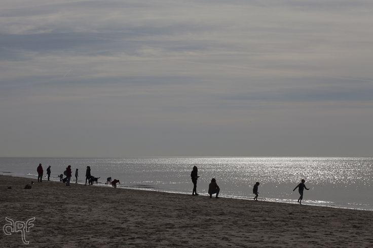 people on beach, Bergen a Zee, Holland