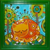 Gallery.ru / Рыжая Соня, витражная роспись - Витражная роспись - ellu