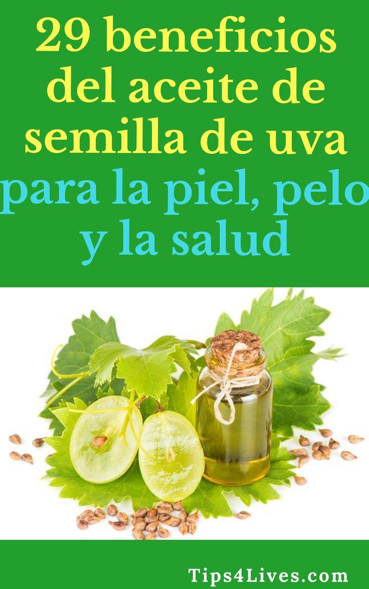 29 beneficios del aceite de semilla de uva para la piel, pelo y la salud