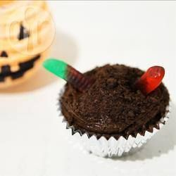 Chocolate Muffins with Jelly Snakes @ allrecipes.co.uk