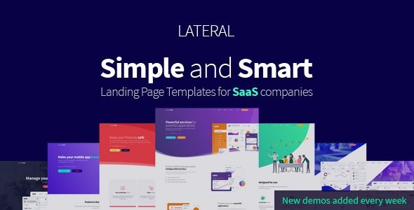 Lateral Creative Saas Landing Page Template Stylelib In 2020 Landing Page Page Template Templates