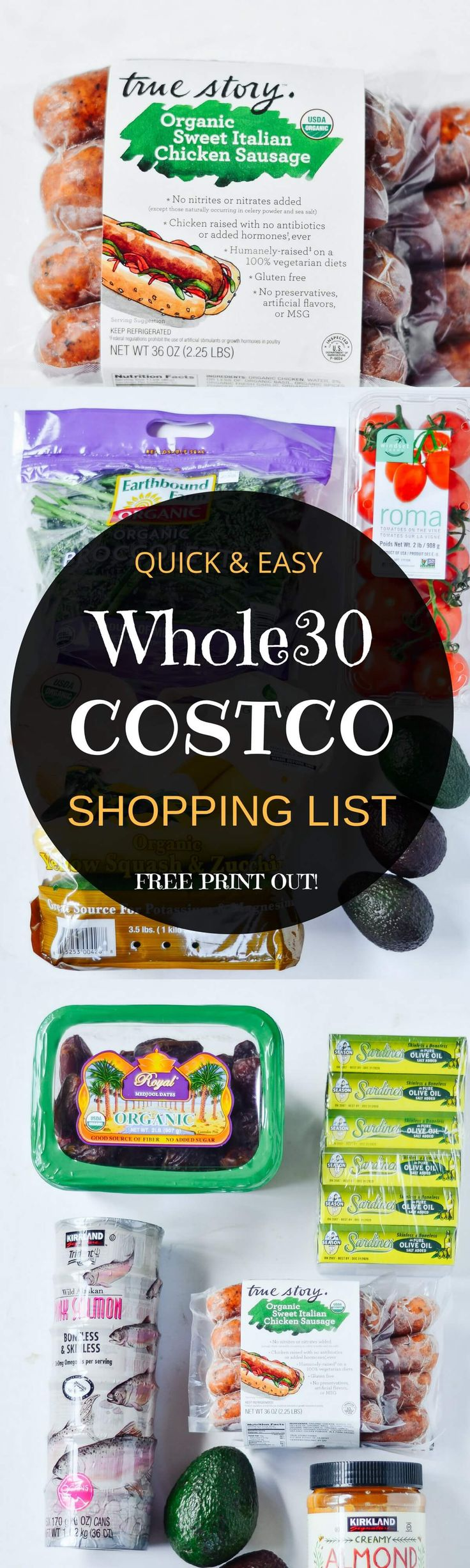 Best Whole30 and paleo shopping list!! Complete with how to read the labels guide and checkboxes for all your whole30 needs! Shop with ease! Eat like a whole30 king! Free shopping list & shopping guide printout! Whole30 shopping list. Whole30 Costco shopp http://www.skinnymefat.com