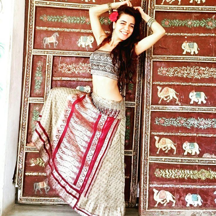 Playing Rajasthani Princess. Check out our Shakti skirts!!