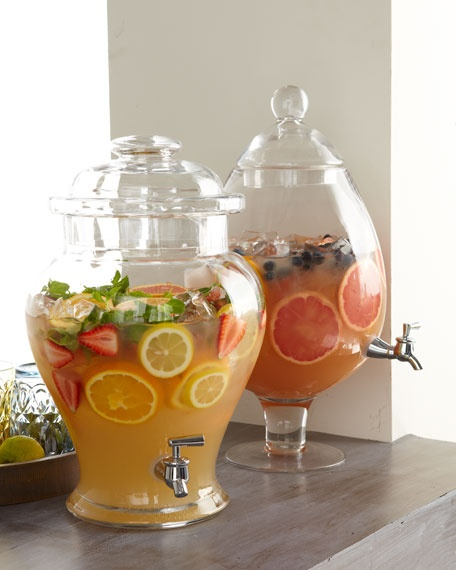 Ginger jar pear shaped crystal beverage dispensers 2 2 5 gallons both are made of lead free - Plastic sangria glasses ...