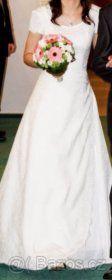 Jednoduché elegantní svatební šaty ze salonu vel. 36-38